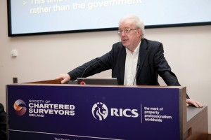 Economist Colm McCarthy addressed the conference on economic prospects