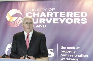 Frank Daly addresses audience