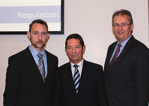 Pictured at the recent Red Book Valuer Registration Roadshow event in Chartered Accountant House in Dublin were (from left): speakers James Creasey, Regulatory Development Executive, RICS; Graham Stockey, Principal Surveyor, RICS Regulation; and, Peter Dixon, Regulatory Surveyor (Valuation), RICS Regulation. As Valuer Registration becomes mandatory in Ireland, the roadshow introduced RICS Valuer Registration, provided an overview of the initiative, and provided participants with an insight into best practise based on findings from regulatory review visits.